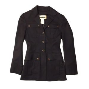 PLEIN SUD $690 military trench blazer jacket 6 38